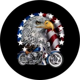 Eagle Flag Bike Spare Tire Cover