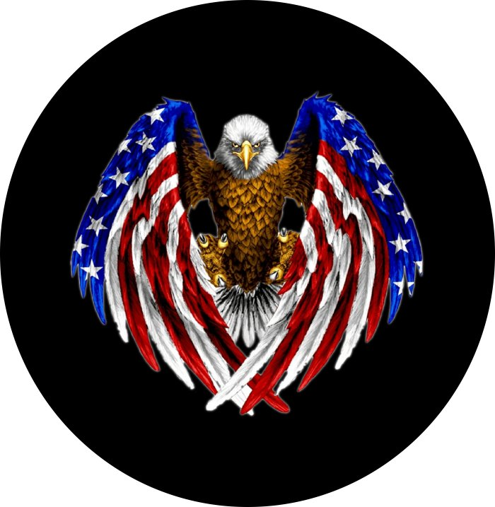 Eagle Wings Spare Tire Cover