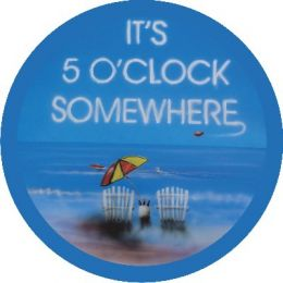 It's 5 O'clock Somewhere Blue Spare Tire Cover