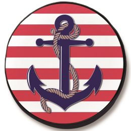 Anchor Spare Tire Cover - Black Vinyl