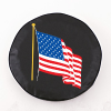American Flag Black Spare Tire Cover