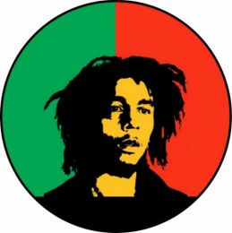 Bob Marley Spare Tire Cover on Black Vinyl