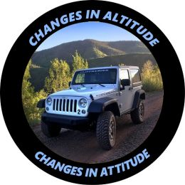 Changes in Altitude - Changes in Attitude Tire Cover