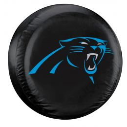 Carolina Panthers Large Spare Tire Cover w/ Officially Licensed Logo