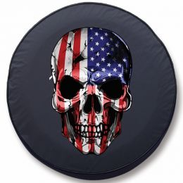 Flag Skull Tire Cover