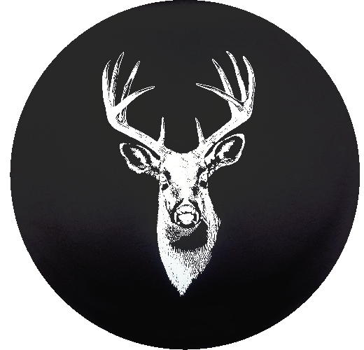 Caps Supply Spare Tire Cover Snowy Winter Big Buck Deer in The Woods Size 35 inch