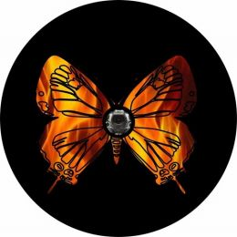 Fire Butterfly Spare Tire Cover - Back Up Camera Ready