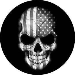 Flag Skull Spare Tire Cover