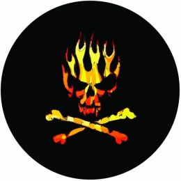 Flaming Skull Spare Tire Cover