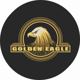 Golden Eagle Spare Tire Cover - Black Vinyl
