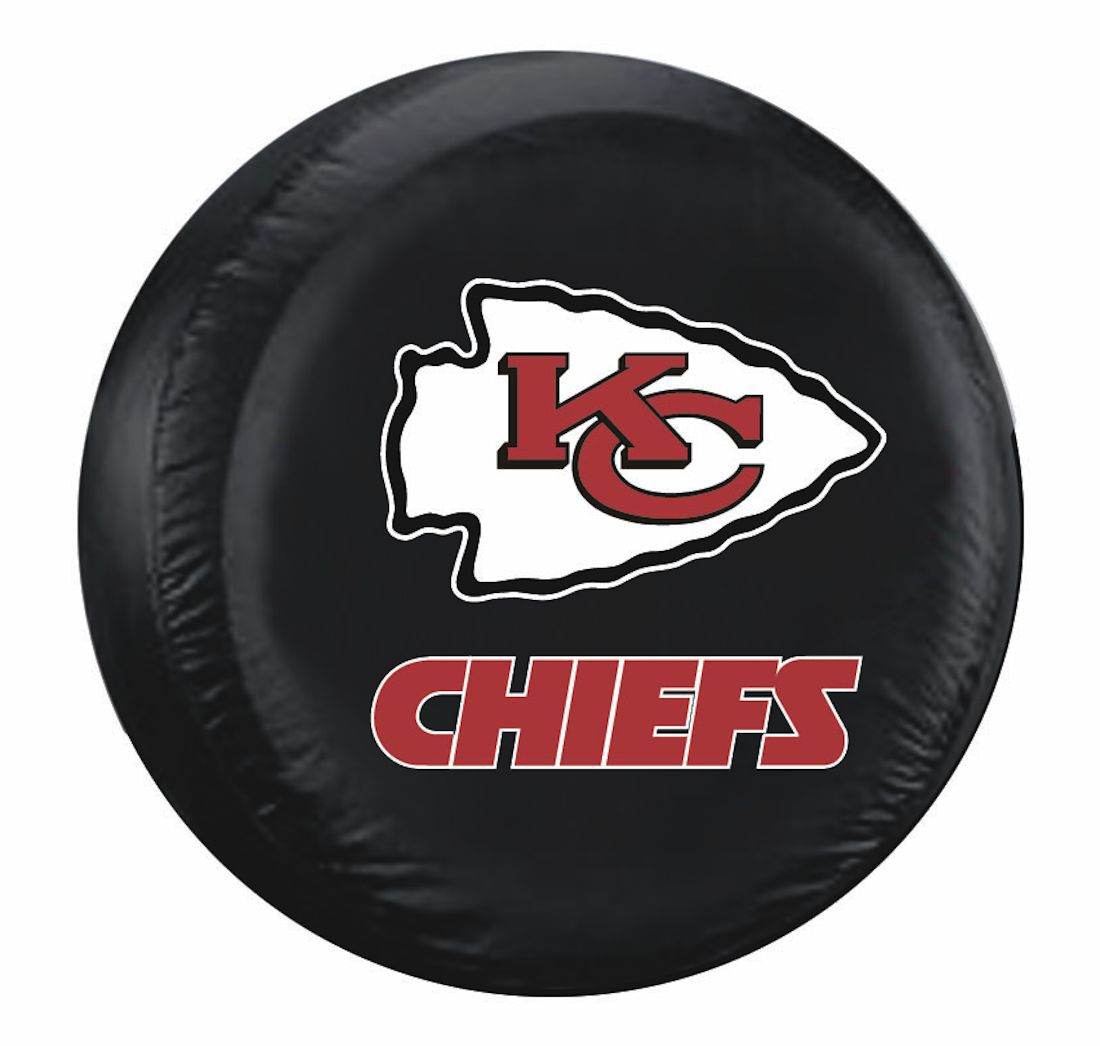 kansas city chiefs standard spare tire cover  officially licensed logo