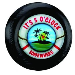 It's 5 O'clock Somewhere Lifesaver Spare Tire Cover