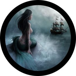 Mermaid and Pirate Ship Spare Tire Cover