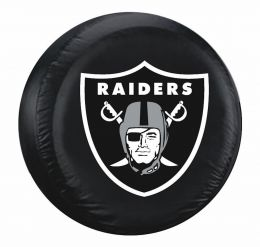Oakland Raiders Standard Spare Tire Cover w/ Officially Licensed Logo