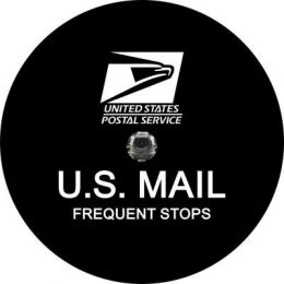 US Mail Postal Spare Tire Cover - Back Up Camera Ready
