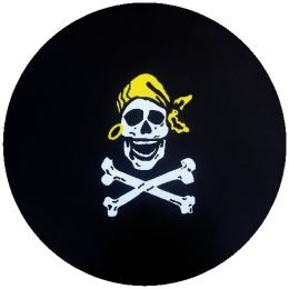 Pirate Skull and Crossbones Spare Tire Cover