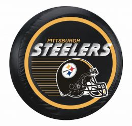Pittsburgh Steelers Large Spare Tire Cover w/ Helmet Logo
