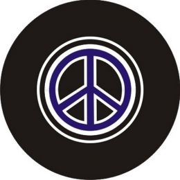 Purple Peace Sign Spare Tire Cover