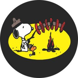 Snoopy Goes Camping Spare Tire Cover