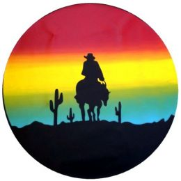 Sunset Cowboy Spare Tire Cover