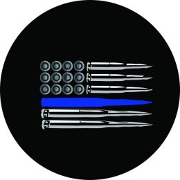 American Flag Ammo Police Thin Blue Line Spare Tire Cover