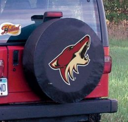Arizona Tire Cover w/ Coyotes Logo - Black Vinyl