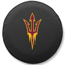Arizona State Tire Cover w/ Pitchfork Logo - Black Vinyl