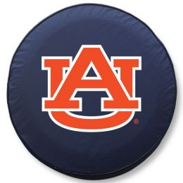 Auburn Tire Cover w/ Tigers Logo - Blue Vinyl