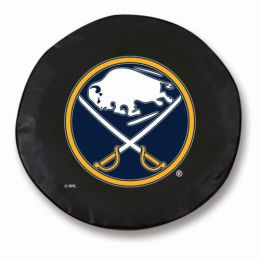 Buffalo Tire Cover w/ Sabres Logo - Black Vinyl
