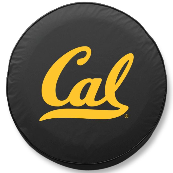 California Tire Cover W Golden Bears Logo Black Vinyl