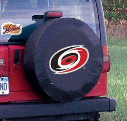 Carolina Tire Cover w/ Hurricanes Logo - Black Vinyl