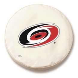 Carolina Tire Cover w/ Hurricanes Logo - White Vinyl