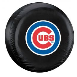 Chicago Cubs Tire Cover w/ Officially Licensed Team Logo - Large