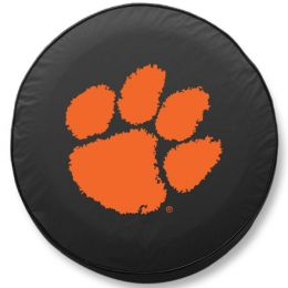 Clemson Tire Cover w/ Tigers Logo - Black Vinyl