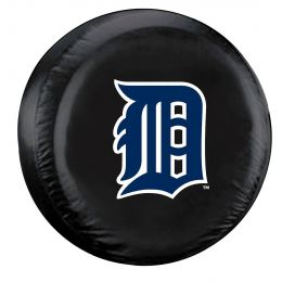 Detroit Spare Tire Cover w/ Tigers Logo - Large Size