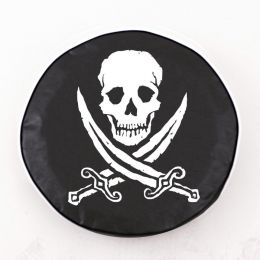 Jolly Roger Rough Black Spare Tire Cover