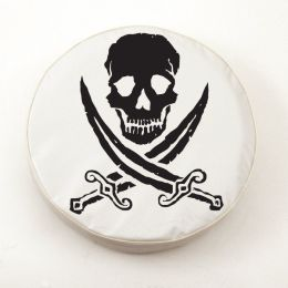Jolly Roger Rough White Spare Tire Cover