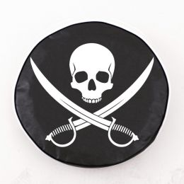 Jolly Roger Clean Black Spare Tire Cover