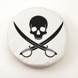 Jolly Roger Clean White Spare Tire Cover