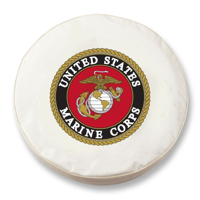 United States Marines Military White Spare Tire Cover