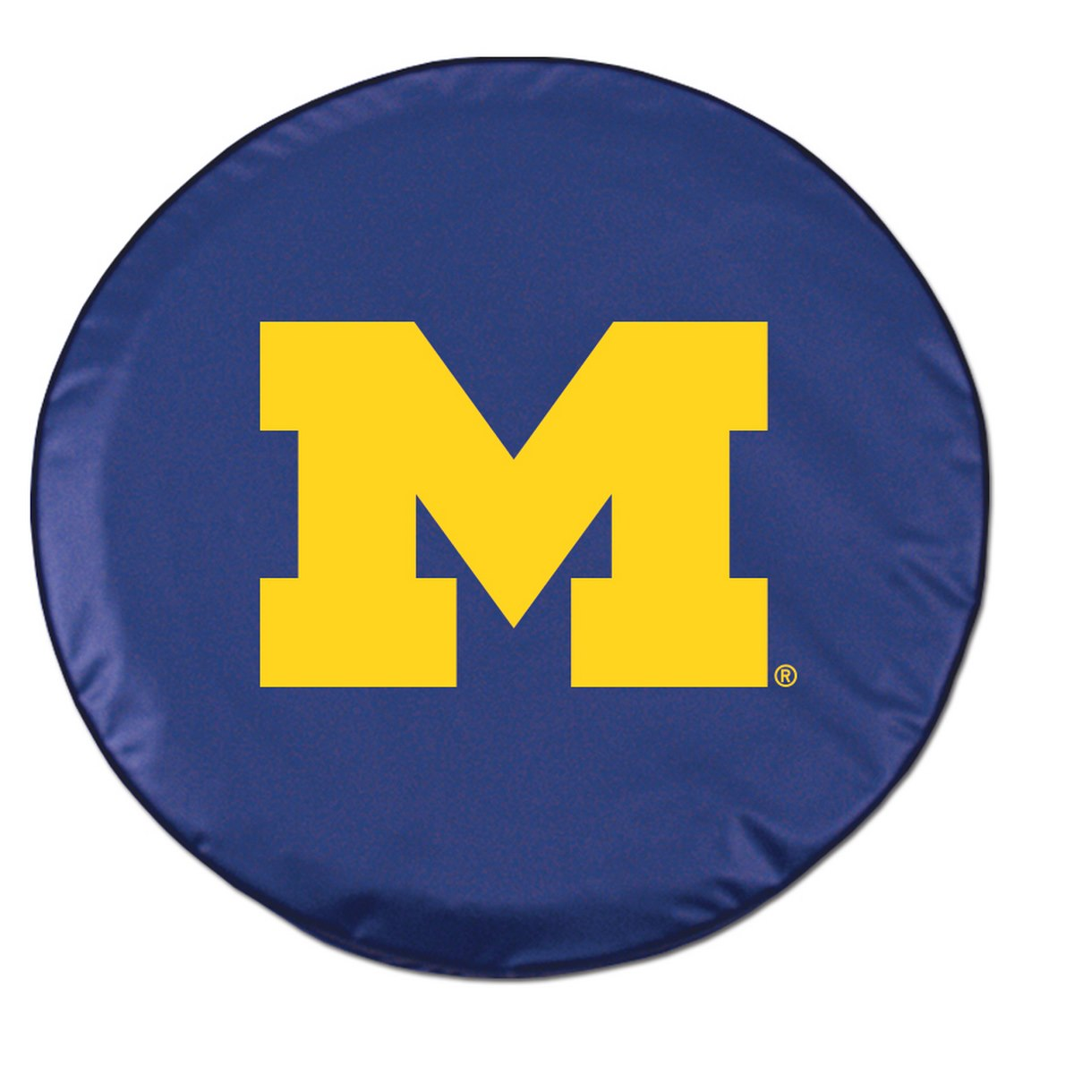 Michigan Tire Cover w/ Wolverines Logo - Blue Vinyl