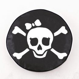 Pirate Girl Black Spare Tire Cover