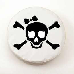 Jolly Roger Girl White Spare Tire Cover
