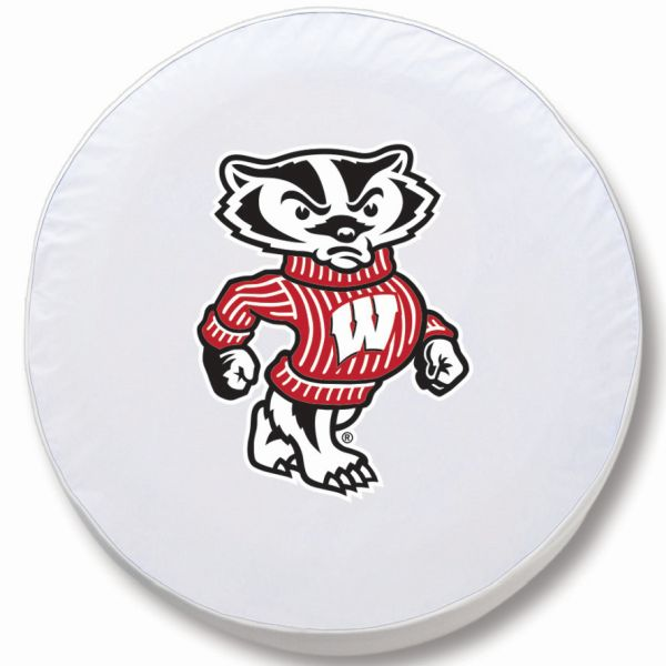 Wisconsin Tire Cover W Badgers Logo White Vinyl