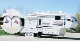 Arizona RV Tire Shade w/ Wildcats Logo - White Vinyl