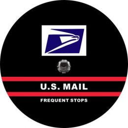 US Mail Frequent Stops Spare Tire Cover - Back Up Camera Ready