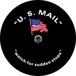 US Mail Flag Spare Tire Cover - Back Up Camera Ready