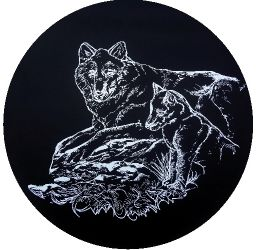 Wolf Outline Spare Tire Cover