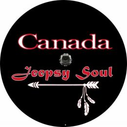 Wrangler JL Canadian Jeepsy Soul Spare Tire Cover - Back Up Camera Ready