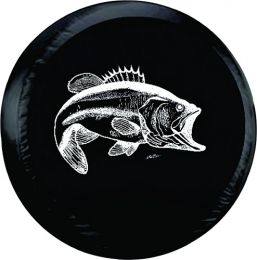 Bass Fishing Spare Tire Cover